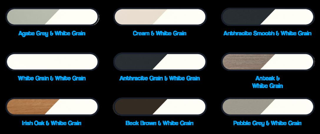 flush sash colour range from the builf