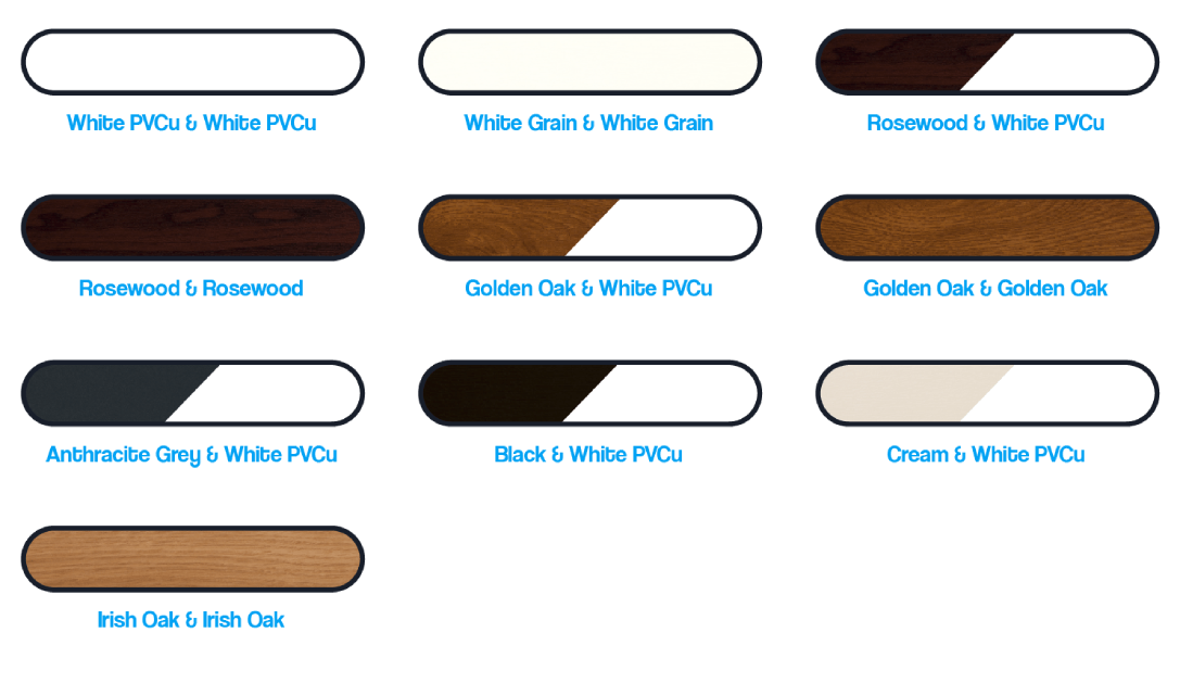 pvcu casement colour range from the builders choice